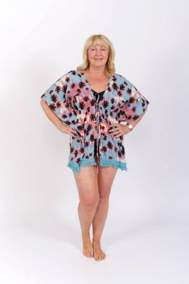 Tropical Blue Kaftan